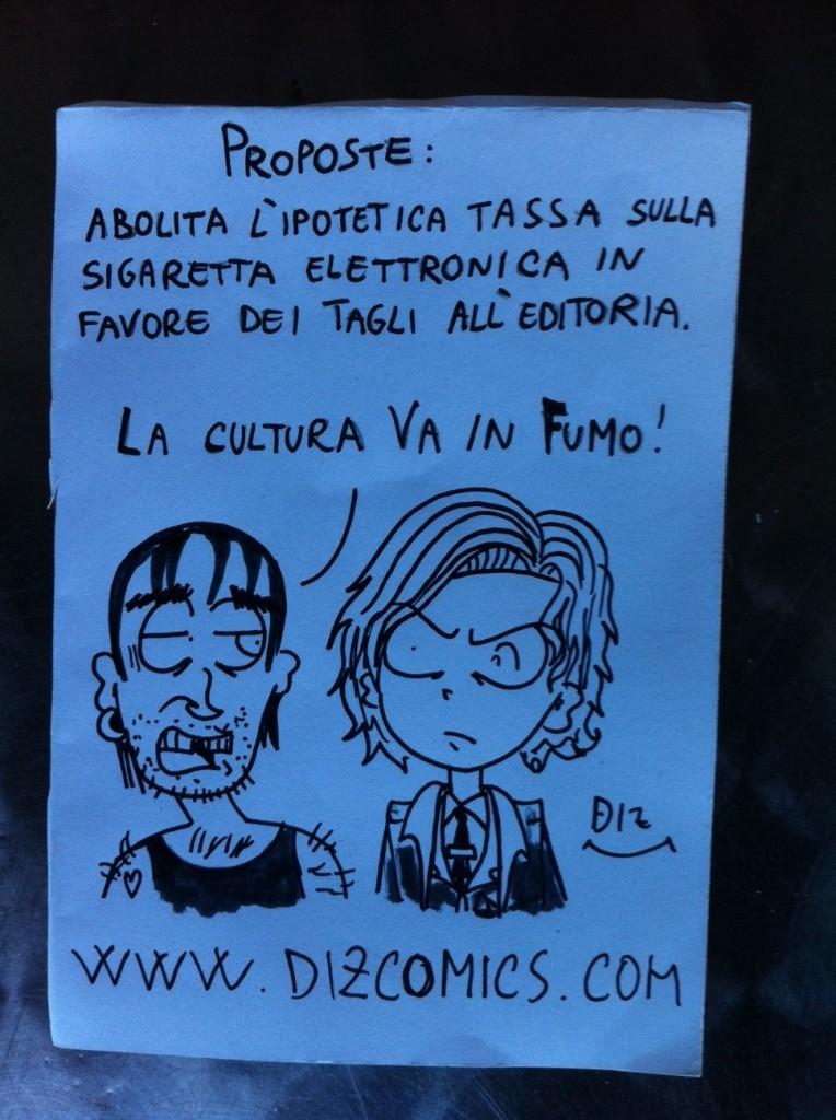 La vignetta del 14 maggio 2013: la cultura va in fumo